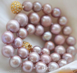 Wholesale Freshwater Necklace Lavender - New 8-9MM Genuine cultured Freshwater Lavender pearl necklace 18""