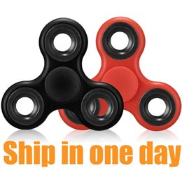 Wholesale Metal Finger Boxing - Fidget Tri Hand Spinner Fidget Spinners Finger EDC Toys Hand Spinner Acrylic ABS Plastic Metal Gyro Decompression Anxiety Toys With Box