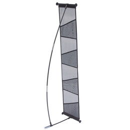 Wholesale Wholesale Literature Holders - New Brochure Stand Holder Literature Rack (4 pockets) with ABS Clips Fiberglass Pole 4pcs Brochure Holders Portable Carry Bag