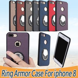 Wholesale Quality Rings - Ring Armor Case For IPhone X 8 7 6 Plus 6S Protective High Quality Phone Case For Samsung S6 S7 Edge S8 Plus