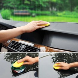 Wholesale Car Scratch Cleaner - Wholesale-Yellow Car Cleaning Tool Applicator Pads 12 pcs set Sponge Car Wax Sponge Anti-Scratch Car Care