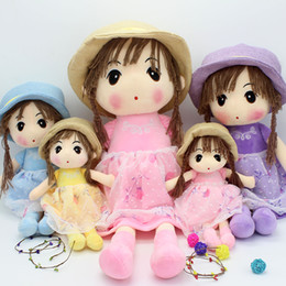 Wholesale Plush Toys Manufacturers - 2017 manufacturers selling Seiko secretive cute girl straw hat doll girl doll girl girlfriend birthday gift 40cm55cm70cm80cm