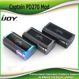Wholesale Unique Custom - Authentic iJoy Captain PD270 TC BOX Mod 234W With 2 20700 Battery 6000mah Firmware Upgradeable Unique Custom User Mode 100% Genuine 2228518