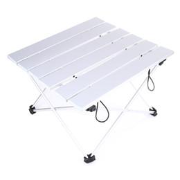 Wholesale Aluminium Picnic Table - Portable Camping Table Outdoor Golden Aluminium Alloy Foldable Folding Picnic Table Ultralight Mesa Plegable For Hiking Picnic