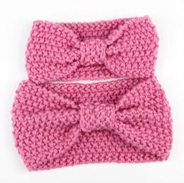 Inverno quente crochet malha Headband para mamãe e bebê presente de natal para adulto e bebê DHL frete grátis cheap adult crochet headbands de Fornecedores de headbands de crochê adulto