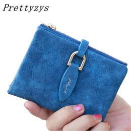 Wholesale Coin Snap Wallet Women - Wholesale- Prettyzys Lady Snap Fastener Short Clutch Wallet Vintage Matte Women Wallet Fashion Small Female Purse short Coin Card Holder