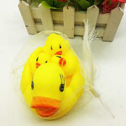 Wholesale Float Tanks - Big Duck 13*9*cm Baby Toys Water Floating Children Water Duck Toys Yellow Rubber Baby Bath Toy for Kids Squeeze Sound Squeaky Pool