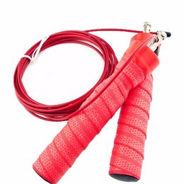 Wholesale Double End Ball - New Crossfit Jump Rope Fast Speed Adjustable Double End Rope Steel Wire with Bearing Ball Dia 4mm
