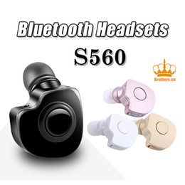 Wholesale Bluetooth Connection Iphone - S560 Wireless Bluetooth V4.0 Hands Free Stereo Earphone Wireless Bluetooth Headset Earphone with Microphone Multi Connection for iPhone