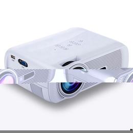 Proyectores de alta luminosidad online-Al por mayor-Alta calidad portátil 800x480 1080P HD Home Projector Video LCD Mini LED proyector negro / blanco