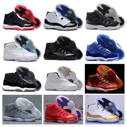 Wholesale Flat Leather Shoe - Wholesale Retro 11 Basketball Shoes space jam retro 11 JXI Sports Shoes Pantone legend Bred Sneakers Womens Athletics Cheap Shoes Men Boost