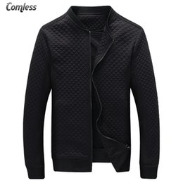 Wholesale Mandarin Slim Fit - Wholesale- Hot Sale 2016 New Fashion Brand Jacket Men Clothes Baseball Collar Trend Slim Fit High-Quality Casual Mens Jackets And Coats 5XL
