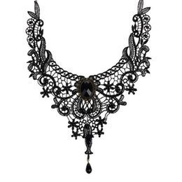 Wholesale Day Collar Jewerly - Fashion Goth Necklaces For Women 2016 Beauty Girl Handmade Jewerly Retro Vintage Lace Necklace Collar Gothic Choker Necklace