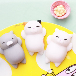 Wholesale Iphone Black Panda - Lovely 3D Soft Squishy Toys Cat Panda Seal Polar Bear Rabbit Stretchy Squeeze Relieve Stress Paste on Vent toys for cellphone Case
