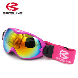 Wholesale Ski Kids Glasses - Wholesale- children snow ski goggles for boys girls anti fog UV double lens winter snowboard glasses googles skibrille kids ski goggles