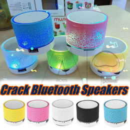 Wholesale Usb Support Speakers - Bluetooth Speakers LED A9 S10 Wireless speaker hands Portable Mini loudspeaker free TF USB FM Support sd card PC with Mic