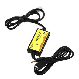 Wholesale Mp3 Sticks - Car Audio Interface MP3 USB Data Cable 8P Connect CD Changer SSD   SHSD   MMC Card And USB stick play DC 12V for Toyota