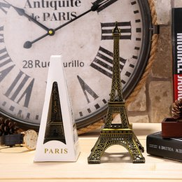 Wholesale Eiffel Tower Metal Model - 32cm   12.6inch Paris Eiffel Tower Model Bronze Home Decorative Furnishing Articles Decor, Vintage Craft Mold Figurine Statue Home Decor