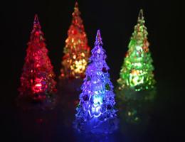 Acryl Künstliche Beflockung Weihnachtsbaum LED Multicolor Lichter silikon bunte Urlaub Fenster Dekorationen großhandel kostenloser versand von Fabrikanten