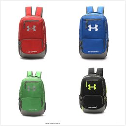 Wholesale Tennis Backpack Wholesale - 2017 UA Backpack Casual Hiking Camping Backpacks Men Women Shoulders Bag Outdoor Waterproof Sports Travel Bags School Bag DHL Free Shipping