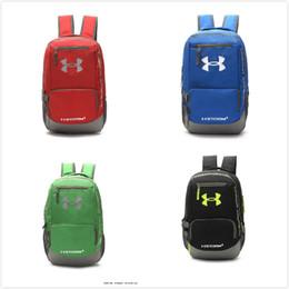 Wholesale Tennis Bag Free Shipping - 2017 UA Backpack Casual Hiking Camping Backpacks Men Women Shoulders Bag Outdoor Waterproof Sports Travel Bags School Bag DHL Free Shipping
