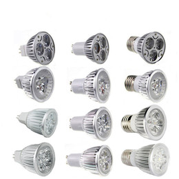 Wholesale 12v E27 Led - 9W Dimmable LED Bulb 12W 15W Bulb Lights GU10 MR16 E27 E14 B22 LED Spotlights CREE Lights 3x3W Energy-saving Led Lighting Bulbs
