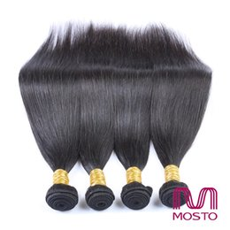 Wholesale Silky Straight Weave Chinese Hair - MOSTO Silky Straight Unprocessed Brazilian virgin Hair Malaysian Indian Peruvian human Hair weaves Hair Bundles Extensions