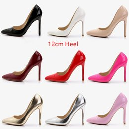 Wholesale Professional White Dresses - Koovan Women Pumps 2017 Big-code super high heels women black silver red gold pointed shoes shallow mouth professional dinner 12cm