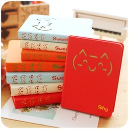 Wholesale Smiley Diary - Wholesale- Korean Sweet Cat Smiley Cute Hardcover Personal Diary Notebook School Office Journal Notebooks Notepad