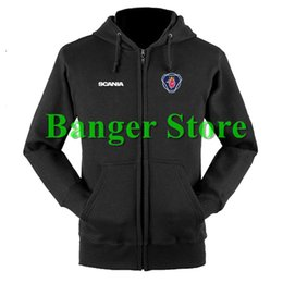 Wholesale Customs Truck - Wholesale- SCANIA truck sweatshirts coat custom scania 4S shop hoodie jacket for men and women