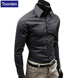 Wholesale Wholesale Business Clothes - Wholesale- 15 Colors Brand-clothing Camisa Social Masculina Long Sleeve Chemise Homme Slim Fit Men Shirt Business Casual Mens Shirt HZ1412