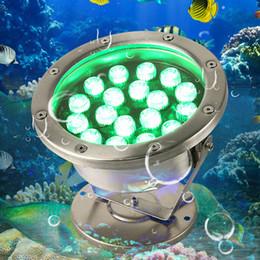 Wholesale Red Led Spot Light - 6W 12W 18W 24W 30W 36W Red Green Blue IP68 CREE LED Underwater Aquarium Pool Fish Tank RGB Spot Light Lamp Pond Fountain Light 12V AC DC