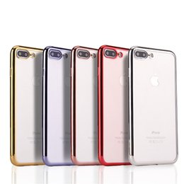 Wholesale Cover Setting - For iphone7 phone shell i7 plus i6 i6s plus plating tpu phone case wireless soft case protective cover tpu phone sets