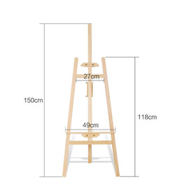 Wholesale Feature Art - display stand 145cm Solid wood easel art special yellow pine wood Easel display stand Featured art Students art Equipment
