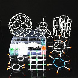 Wholesale Plastic Chemistry - Wholesale- 620pc Atomic Model Toys Organic Chemistry Molecular Structure Model 9mm DLS-9620 kits for children kids best gifts ship with box