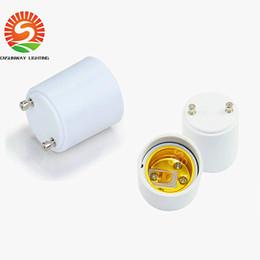 Wholesale E26 E27 Sockets - In Stock!! GU24 to E26 GU24 to E27 Lamp Holder Converter Base Bulb Socket Adapter Fireproof Material LED Light Adapter Converter