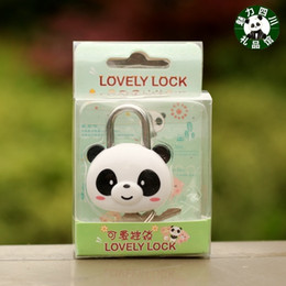 Wholesale Audience Lights - The whole audience 10 pieces of Sichuan panda souvenir gift, mini panda suitcase lock, padlock, notebook lock