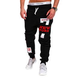 Wholesale Men Pants Laces - 2017 Autumn Winter New Men's Fitness Pants Alphabet Hip-hop Printing Design Men's Sports and Leisure Lace