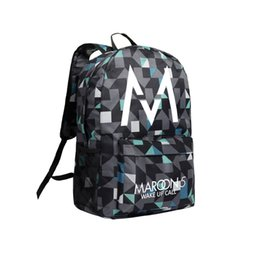 Wholesale Small Cartoon Fans - Singer School Bag Camouflage Backpack Maroon 5 Shoulder Bags Maroon 5 Backpacks for Fans Teenagers Laptop Backpack Boys and Girls Riding Bag