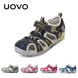 Wholesale Sandal Kids Brand - UOVO brand 2018 summer beach kids shoes closed toe sandals for boys and girls designer toddler sandals for 4 - 15 years old kids