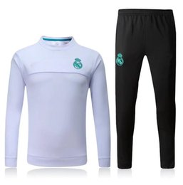 Wholesale Pant Sets - Top quality new Real Madrid survetement football tracksuits training suits 17 18 soccer jacket Long pants wear sets 2017 2018 RONALD RAMOS