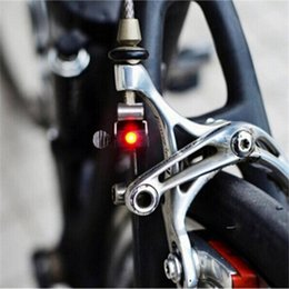 Wholesale Real Brakes - Wholesale- Mini Travel CR1025 Battery Wheel Spokes Bike Brake Light mountain bicycle Led light Limited Real Cycling Accessories