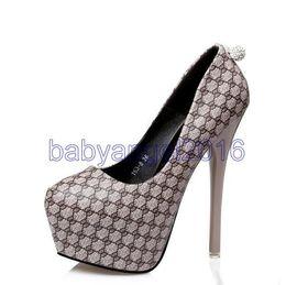 Wholesale Design Back Wedding Dress - 2017 Elegant rhinestone back grid design high platform pumps sexy lady high heels shoes 14cm size 34 to 39