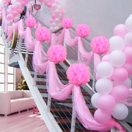 Wholesale Sheer Fabric Wedding Decoration - 4.8*33 Feet Table Chair Swags Sheer Organza Fabric DIY Wedding Party Decoration ( 1.45m * 10m)