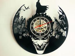 Wholesale Quartz Decor - Joker Batman vinyl record clock, wall clock, vinyl clock, catwoman, home decor 072