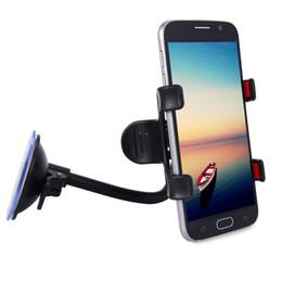 Universal suporte do carro pára-brisa montar sistema cradle para telefones braço longo 360 graus painel de rotação para iphone samsung smartphones de Fornecedores de carregador de carro