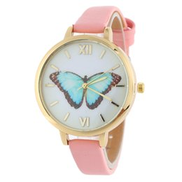 Wholesale Leather Butterfly Belt - Free shipping wholesale price The butterfly numerals watch fashion fine with ms students watch female fashion belt colorful watch fair