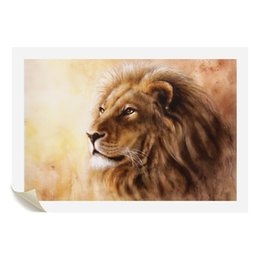 Wholesale photo lions - Lion Painting on Canvas Non Framed Giclee Printing for Home Wall Decoration Animal Photo Art Printing Unframed(60cmx90cmx1pcs)