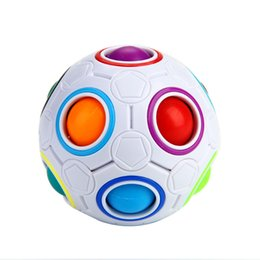 Wholesale Shapes Toys - Magic Rainbow Ball Magic Spherical Cube Strange-shape Football Puzzle Cubes Educational Puzzle Toys for Adults Children