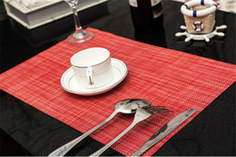 Wholesale Restaurant Bowls - Hotel Restaurant Modern Placemats Colorful Cup Coasters Mats Table Mats Bowl Pad Heat Insulation Slip Ressistant Dining Bar Mat